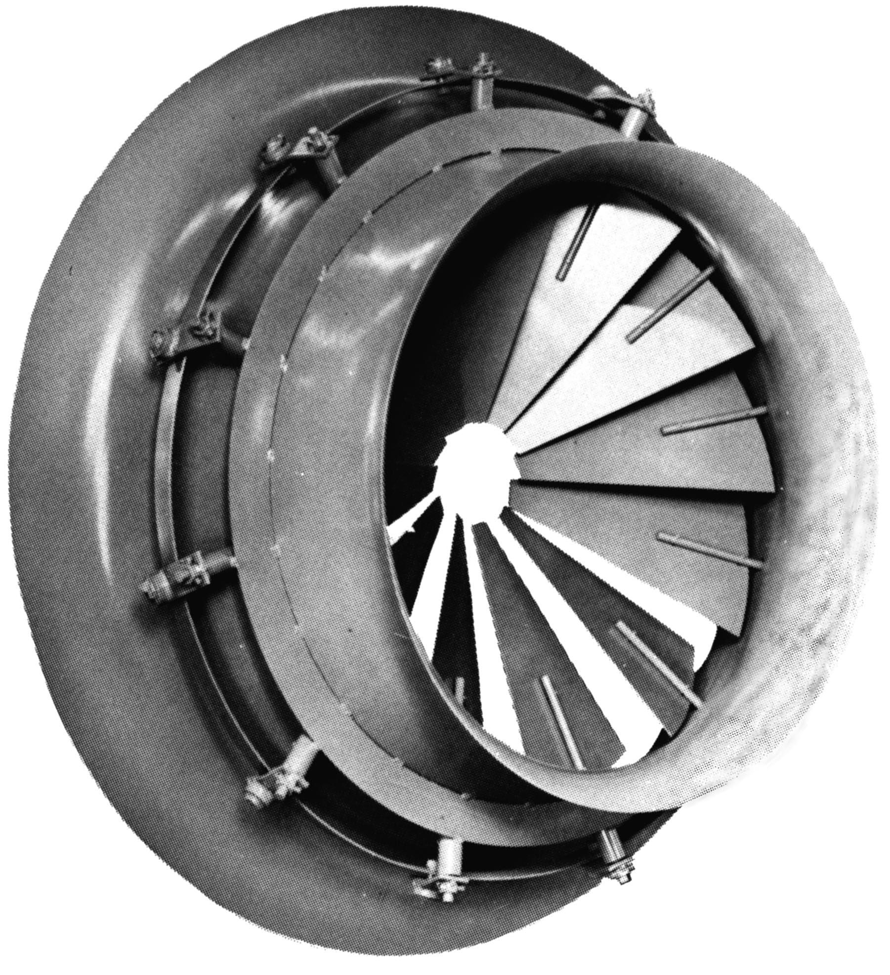 Nuclear HVAC Inlet Vane Damper